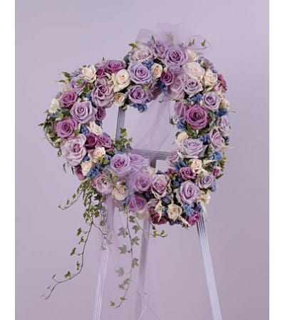 Lavender Heart Of Roses