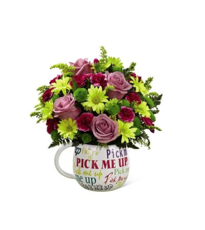 The FTD® Pick-Me-Up® Mug Bouquet