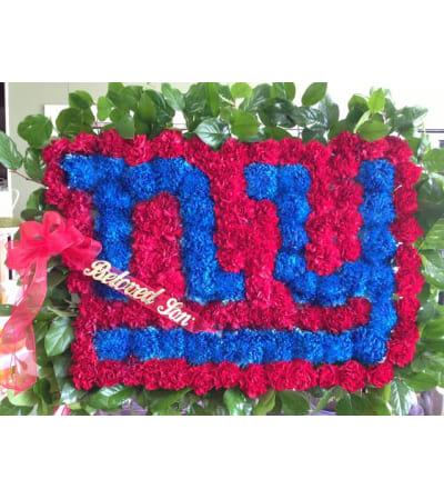 Funeral Custom NY Giants Logo Sympathy