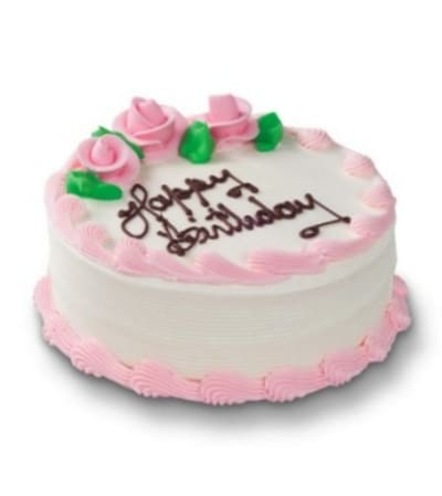 Real Edible White Birthday Cake