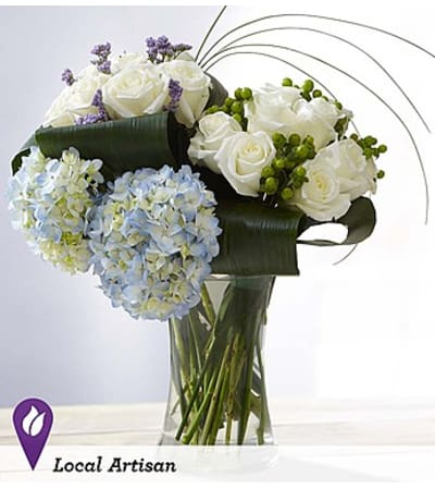 Hand-Tied Rose and Hydrangea