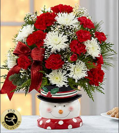 The FTD® Snowman Sensation™ Bouquet 2014
