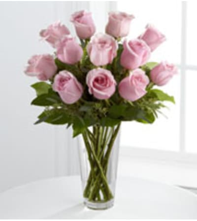 A Classic Pink Rose Bouquet