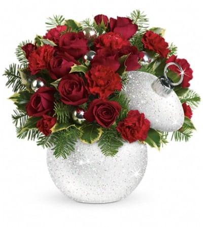 Teleflora's Shimmering Snow Bouquet