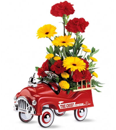 Teleflora's Fire Engine Bouquet