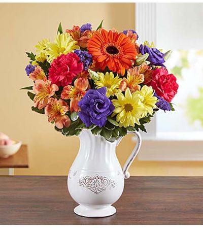 Pitcher Perfect Flower Arrangement