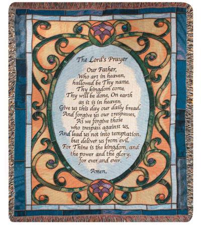 Memorial Throw Lord's Prayer