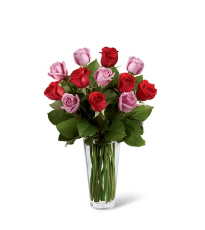 The FTD® Red and Lavender Rose Bouquet