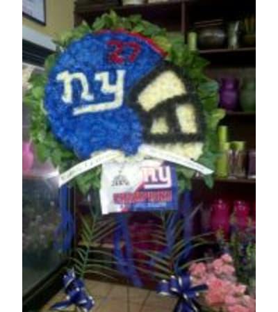 Funeral Custom NY Giants Sympathy Piece