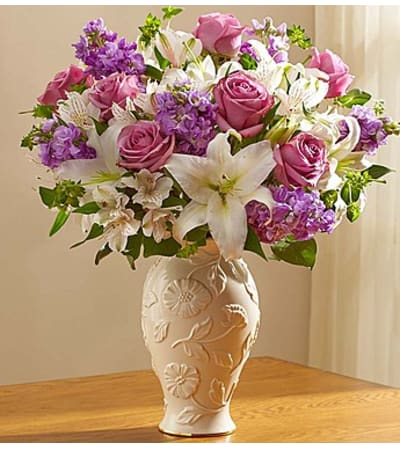 Loving Blooms in Lenox® Lavender & White