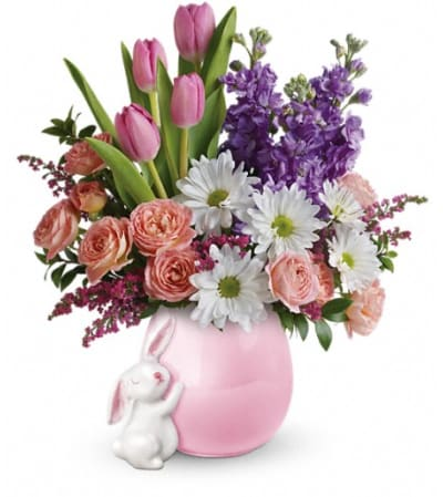 Teleflora's Send a Hug® Bunny Love Bouquet