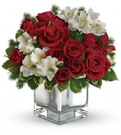 Teleflora's Christmas Blush Bouquet
