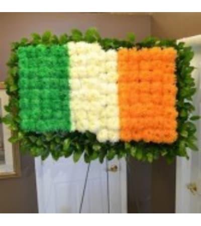 Funeral Custom Irish Flag Sympathy Piece