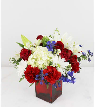 Red, White, and Blue Patriotic Bouquet