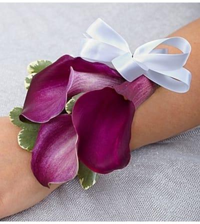 Purple Elegance Corsage - Mini Calla Lily