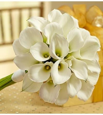 White Mini Calla Liliy Bouquet
