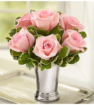 Julep Cup Rose Arrangement - Pink
