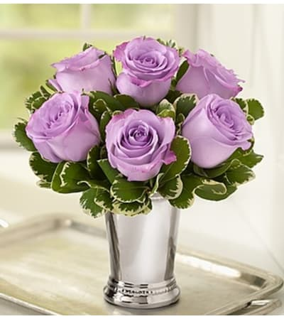 Julep Cup Rose Arrangement - Lavender