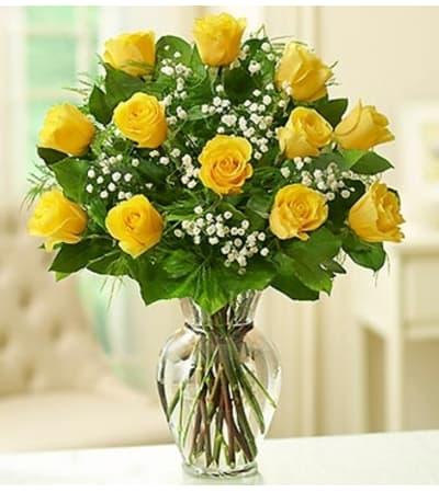 Rose Elegance™ Premium Long Stem Yellow Roses