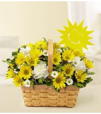 Basket of Sunshine with Sun Decoration