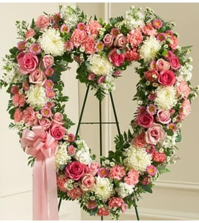 Pink and White Open Heart