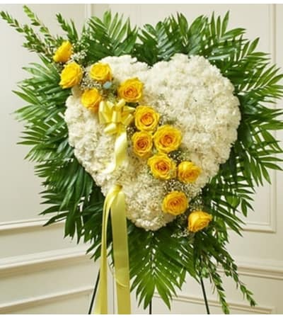 White Heart with Yellow Rose Break