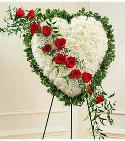 White Heart with Red Rose Break