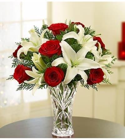 Lenox® Crystal Vase Holiday Arrangement