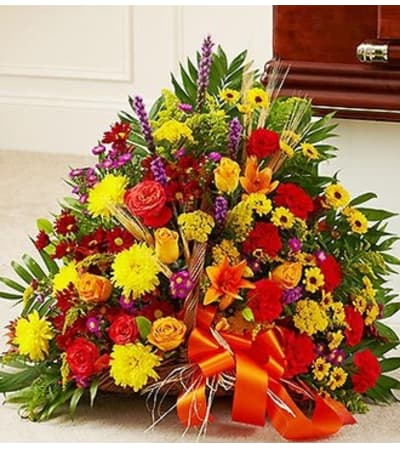 Mixed Fireside Basket in Fall Colors
