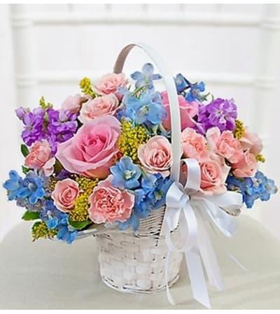 Pastel Flower Girl Arrangement