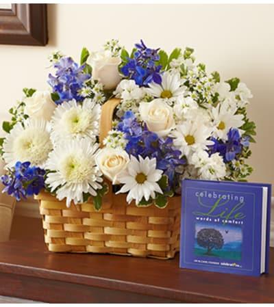 Celebrating Life - Blue and White