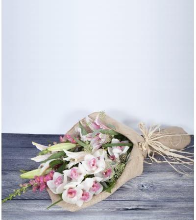 Wrapped Burlap Bouquet