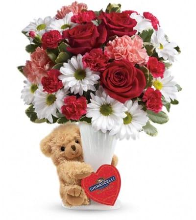Teleflora's Send a Hug® Bear Your Heart Bouquet