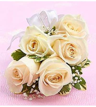 Corsage White Rose