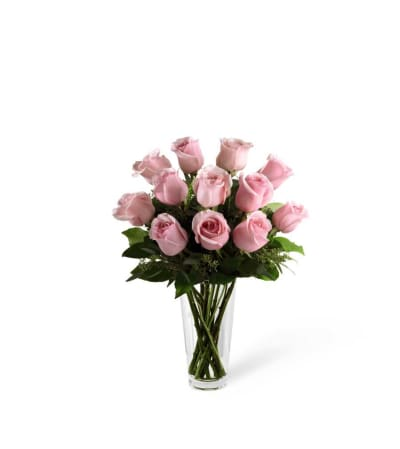 The Long Stem Pink Rose Bouquet by FTD®
