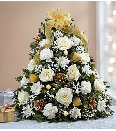 Glistening Gold™ Holiday Flower Tree