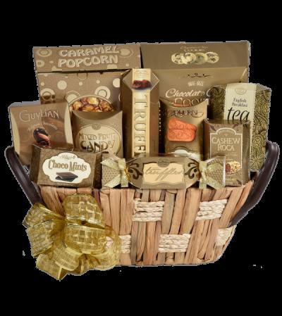 Golden Elegance Gift Basket