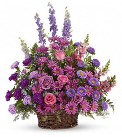 Teleflora's Gracious Lavender Basket