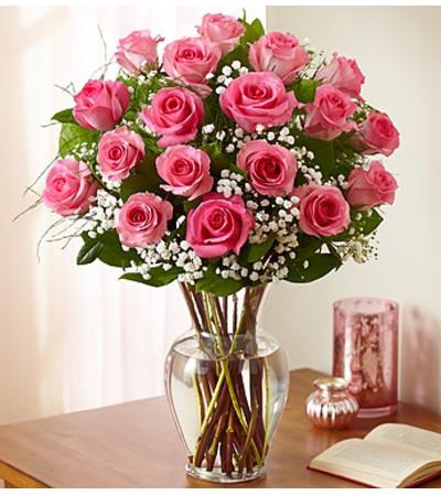 Eighteen Pink Roses
