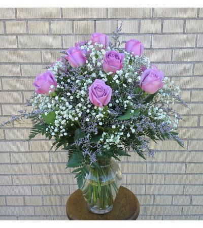 Simply Lavender Rose Vase