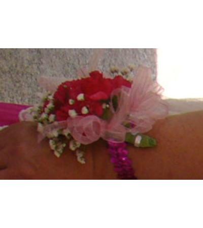 Pink Blush Wrist Corsage
