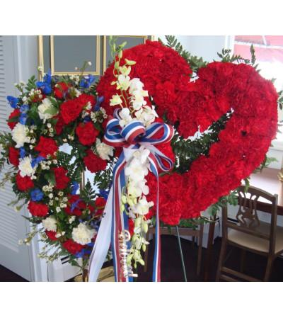 Patriotic Double Heart