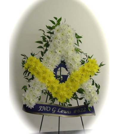 Masonic Emblem Floral Tribute