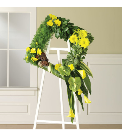 Modern Spring Square Wreath