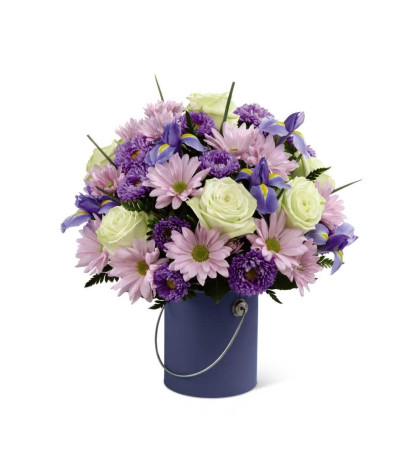 The Colour Your Day Tranquility™ Bouquet by FTD® - VASE INCLUDED