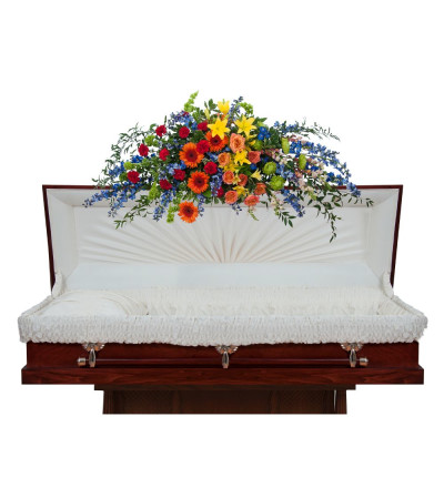 Treasured Celebration Full Casket Spray