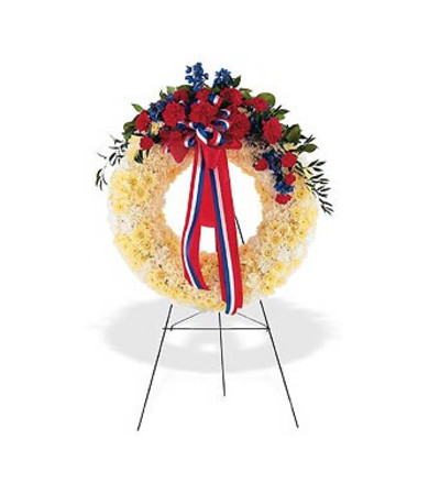 Patriotic Memorial Wreath
