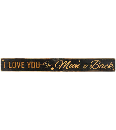I Love You to the Moon & Back Message Bar