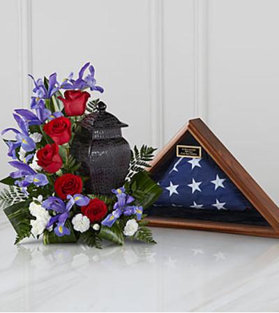 Simple Patriotic Urn Arrangement