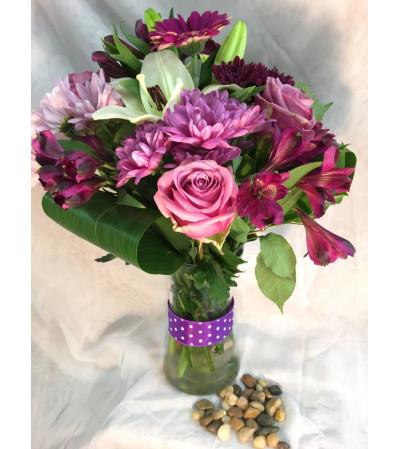 Passionate Purple Arrangement